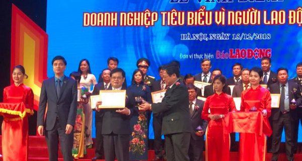 Lễ trao Giải thưởng Doanh nghiệp tiêu biểu vì người lao động năm 2018
