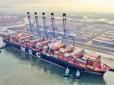 Cai Mep International Terminal (CMIT) handles MSC's largest container vessel to ever call a Vietnamese port