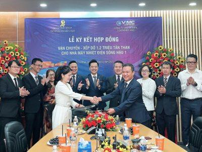 VIMC Container ký hợp đồng vận chuyển 1,2 triệu tấn than cho nhà máy nhiệt điện sông Hậu 1
