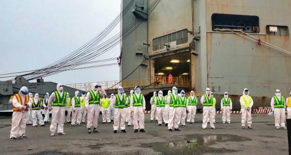 Cảng Hải Phòng thông báo và đề nghị các khách hàng đến làm việc tại Cảng thực hiện các biện pháp phòng chống dịch Covid-19