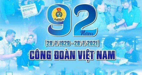 Thư chúc mừng của Chủ tịch Công đoàn Tổng công ty Hàng hải Việt Nam nhân kỷ niệm 92 năm Ngày thành lập Công đoàn Việt Nam