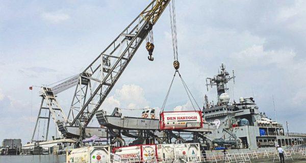 Cảng Sài Gòn làm tốt công tác đón tàu để Tp. Hồ chí Minh tiếp nhận trang thiết bị y tế do Chính phủ Ấn Độ trao tặng