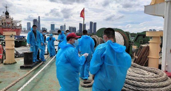 Vinaship đưa thuyền viên hoàn thành cách ly về nhà an toàn