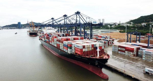 Tàu container thử nghiệm thứ 2 của hãng tàu biển lớn nhất thế giới cập Cảng CITC