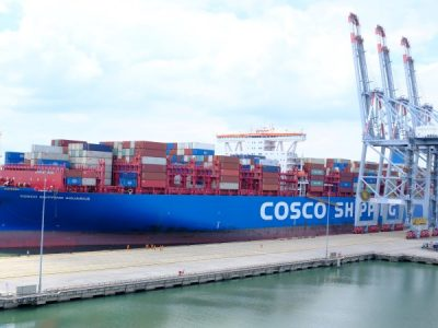 CMIT handles M/v COSCO SHIPPING AQUARIUS 197,049 DWT / 20,119 TEU – OOCL's largest container vessel to ever call a Vietnamese port