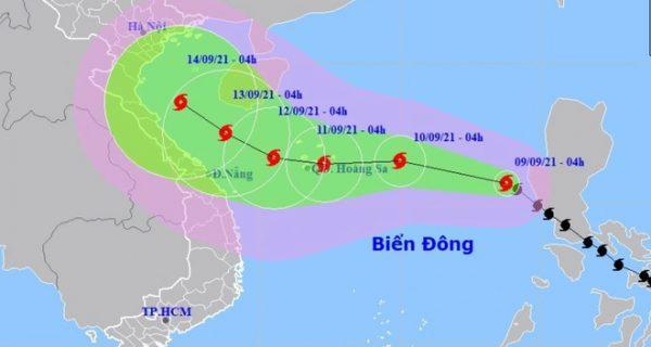Thông báo số 1 về việc phòng chống cơn bão số 5 (Côn Sơn)